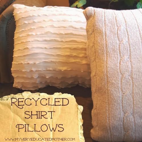 #Recycled Shirt Pillows