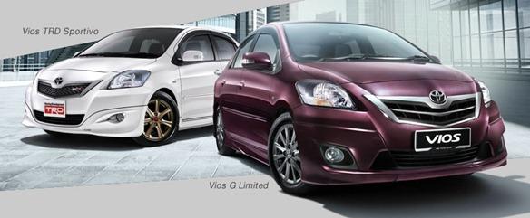 Vios TRD Sportivo & Vios G Limited