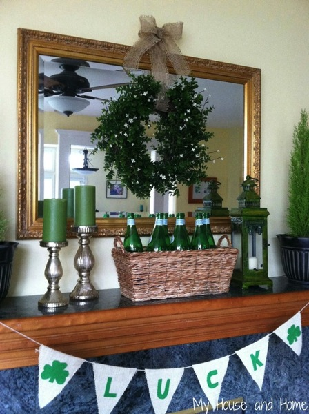 Natural Green St Pat s mantel