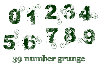 39 number grunge