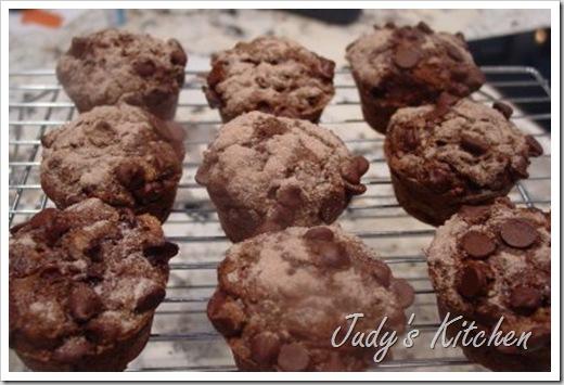 choc zucchini muffins