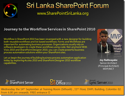 07 - SriLankaSharePointForum - 14th September 2011