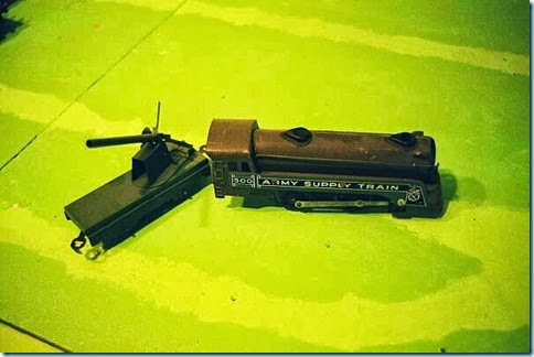 Marx #500 Army Supply Train Loco & scratchbuilt gun car