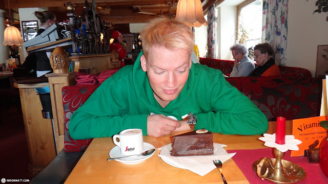 chocolate cake in Seefeld, Tirol, Austria