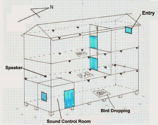 Swiftlet bird house plan