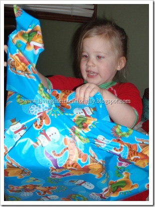 Opening an early Christma Present