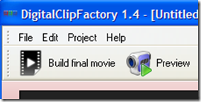 DigitalClipFactory anterpima e avviare creazione del video