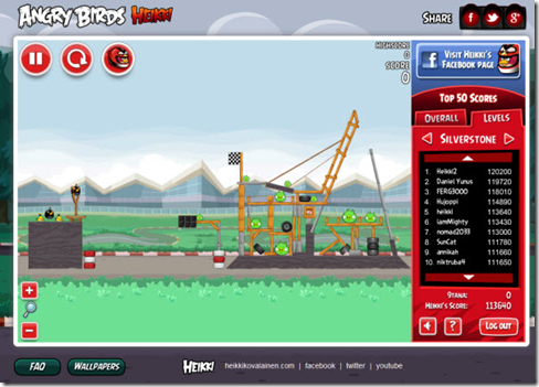 Free to Play Online! Angry Birds Heikki