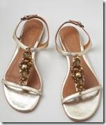 Boden gold sandals