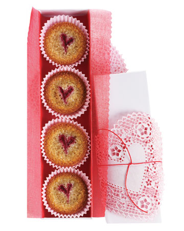 Raspberry Almond Financiers. (marthastewart.com)