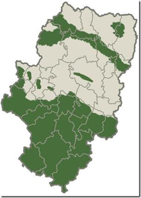 Mapa carrasca Aragón