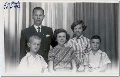 Webster Family Before Leaving For The US 1952