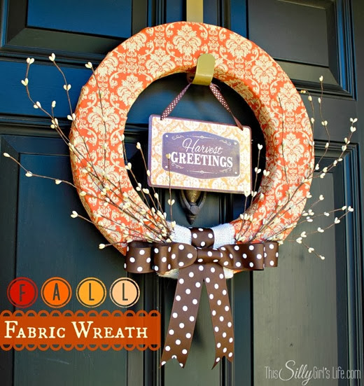 fall fabric wreath #wreath