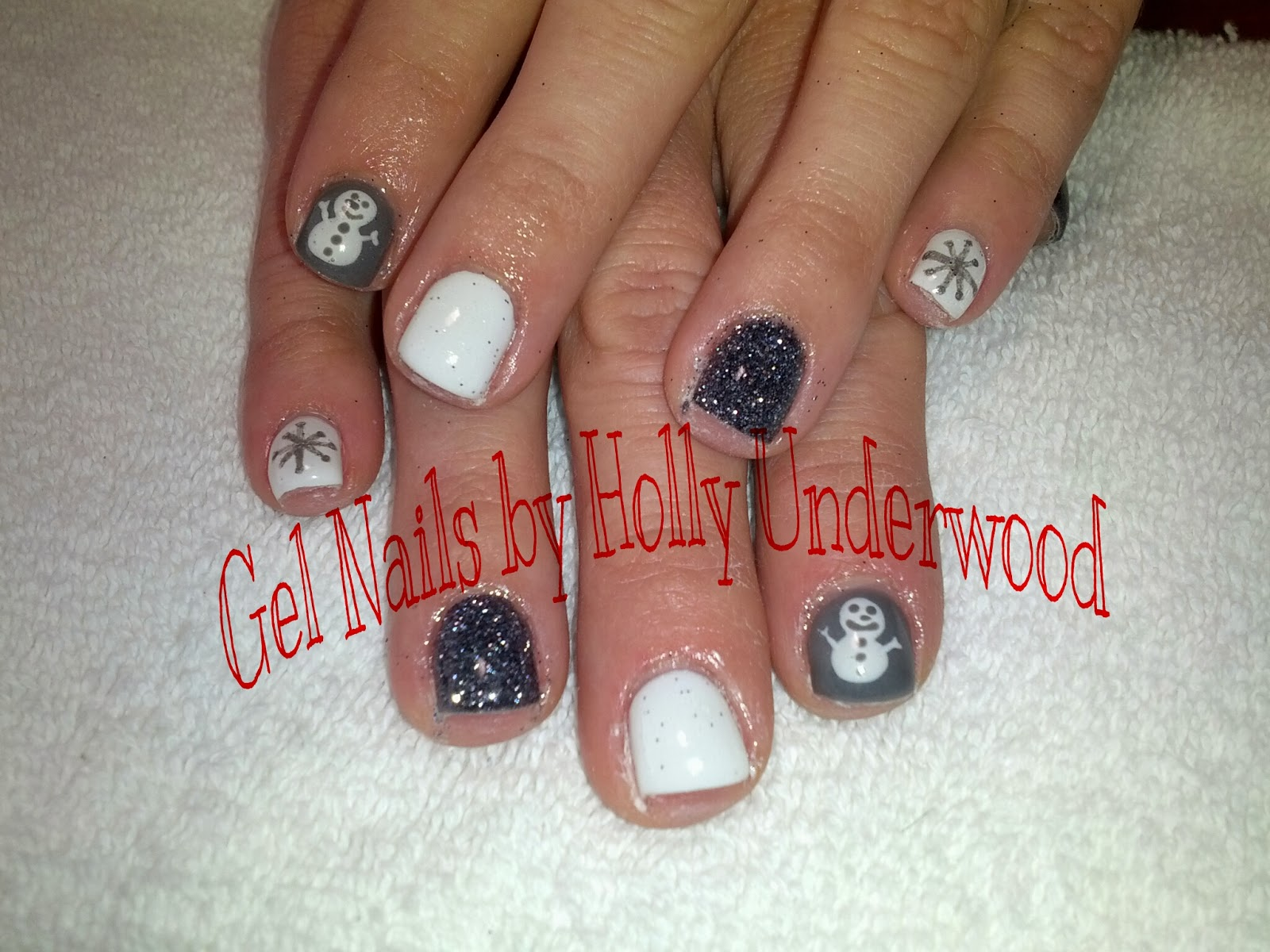 Christmas Gel Nails | Gel Nails and Toes by Holly 435-709-TOES