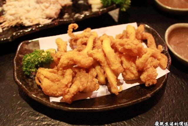 台南-花川日本料理。野酥花枝NTD80,味道差強人意,炸得不夠酥脆。