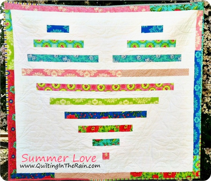 heart quilt tutorial by quilting in the rain