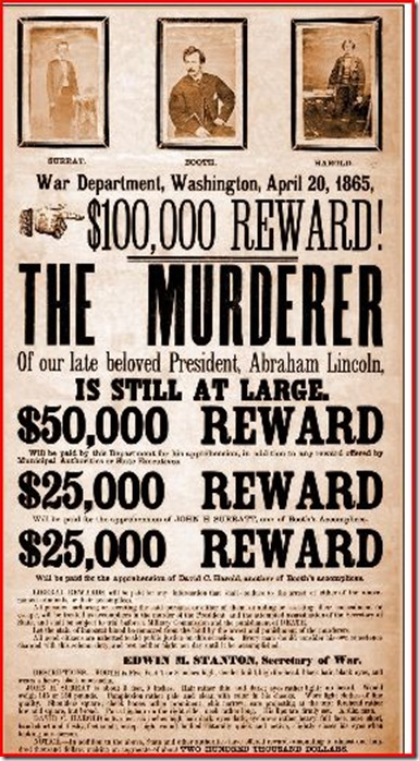 Booth wanted poster