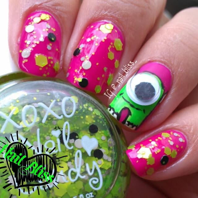My Nail Art Diary Xoxo Nail Candy Monster Bubble Bath