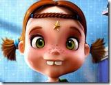 Quebra-cabeças sorriso da garotinha