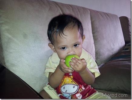 Belajar Makan Epal
