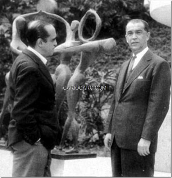 Oscar Niemeyer e Juscelino Kubitschek