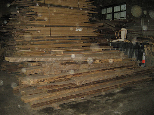 These are planks reclaimed from the Coney Island boardwalk. They will be refinished and used in new projects.