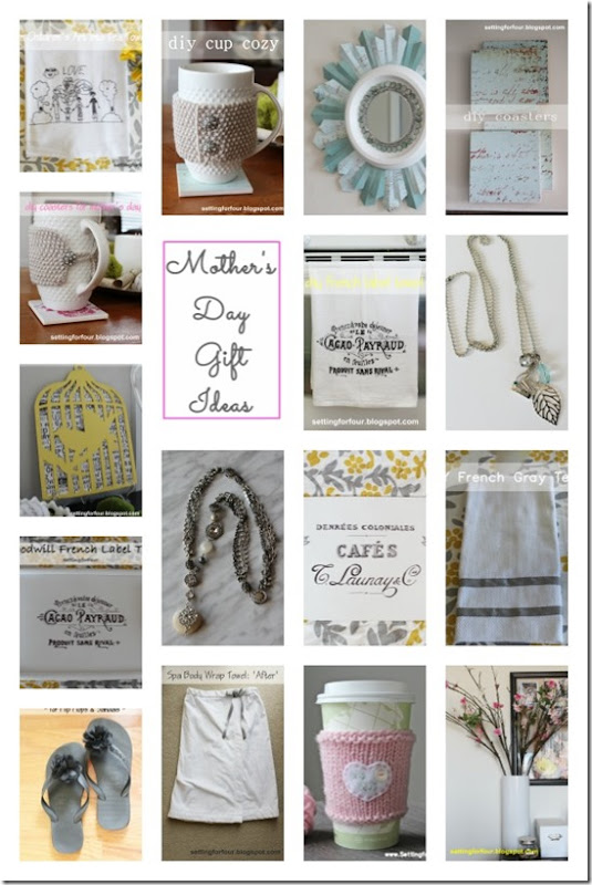 DIY Mother's Day Gifts from Setting for Four