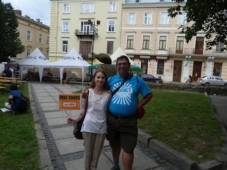 Imagini Lvov: cu Irina la final de tur