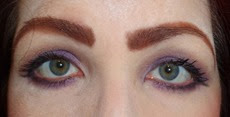 Eye Look with Merle Norman Spring Wistful Eyecolor Trio and Charcoal Eyeliner