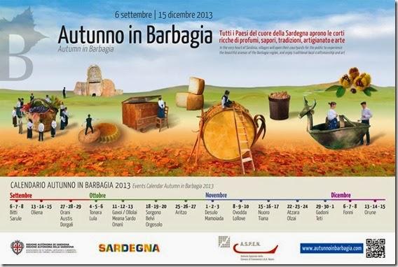 Immagine della locandina della manifestazione di autunno in barbagia
