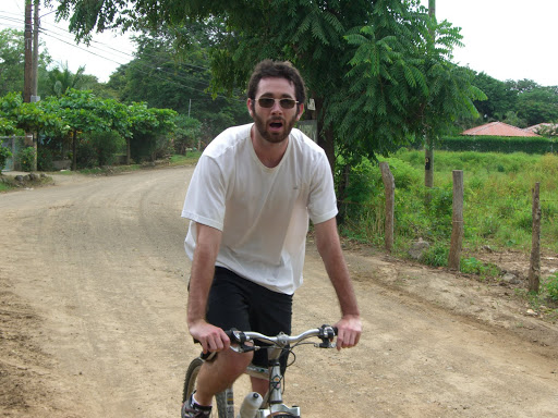 Playa Flamingo Cycling - Monkey Trail - Brendan expressing himself