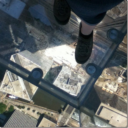 Willis Tower 23 - Skydeck Ledge - Simone's Feet