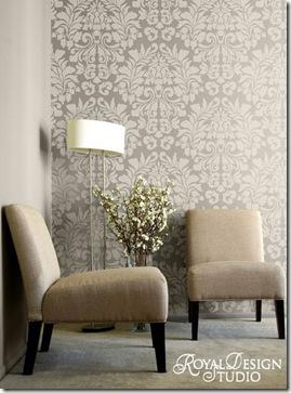 Royal-Design-724L-Lg--Fabric-Damask-Stencil