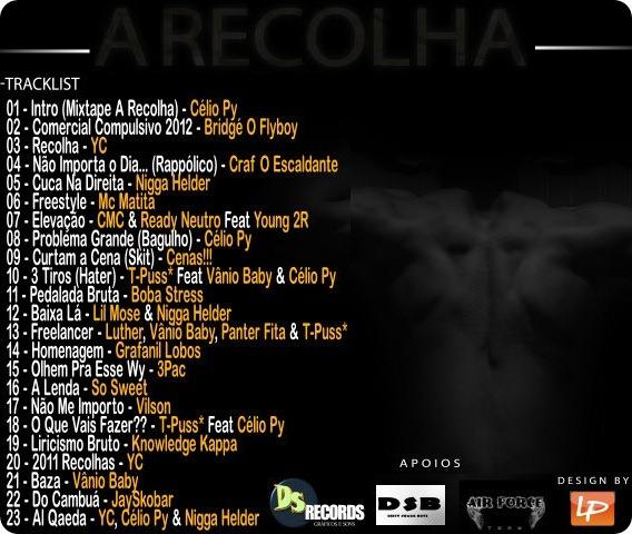 AJ - Mixtape 'A Recolha' (Capa Back)