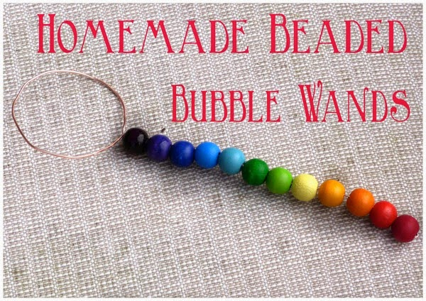 Homemade Beaded Bubble Wands - From Blue Bells and Cockle Shells