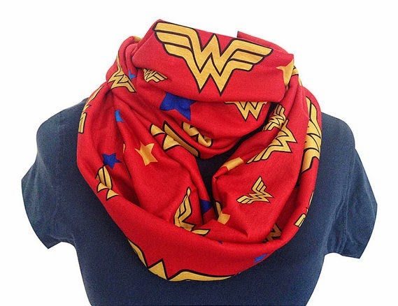 Wonder Woman Scarf from Rooby Lane