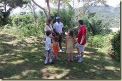 Our guide and crew at Animal Park Roatan (Small)