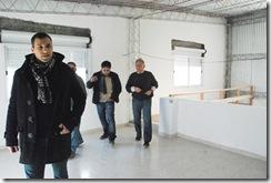 Juan Pablo de Jesús visitando las instalaciones del Centro de Jubilados