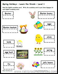 ESL Teaching Tip: Teach the holidays of the English Speaking World in order to help students to build their common cultural knowledge and increase their reading comprehension - Raki's Rad Resource - Easter Vocabulary