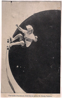 Bob in one of his more famous pictures in Skateboarder at Mt. Baldy!