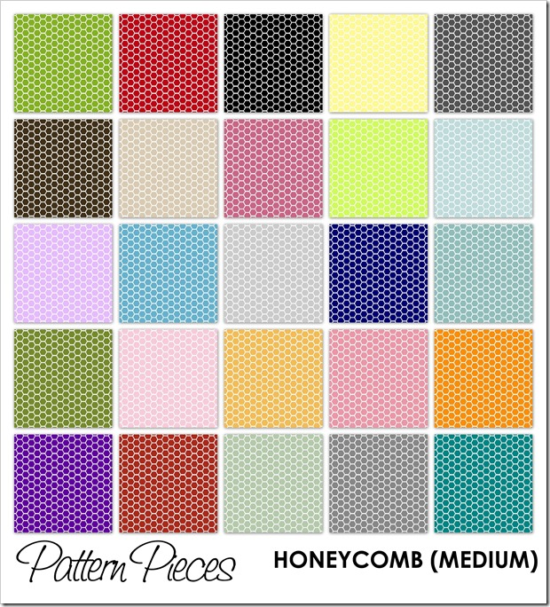 IMAGE - Pattern Pieces - Honeycomb (Medium)
