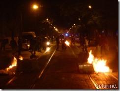 Av.D.Carlos em chamas.greve geral.Nov.2012