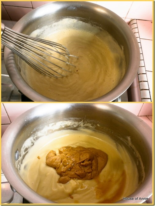 cooking custard for peanut butter cup pie