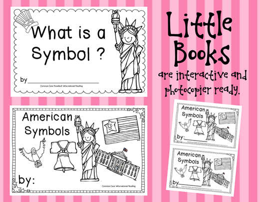 Amazing materials for getting unparalleled reading results- from Teacher to the Core American Symbols