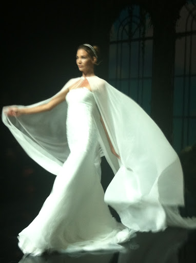 This cape was so dramatic in action, but would look demure during a ceremony.