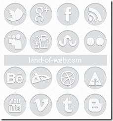 light gray social icon pack
