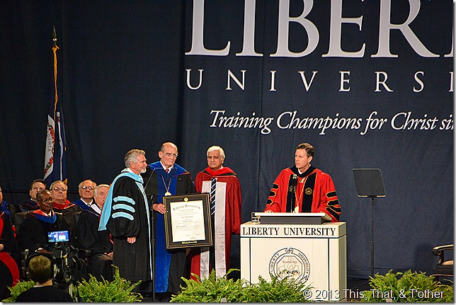 Ravi Zacharias honorary degree