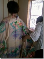 振袖着付け練習 (2)