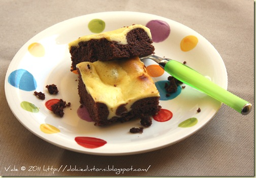 Chocolate cheesecake brownie