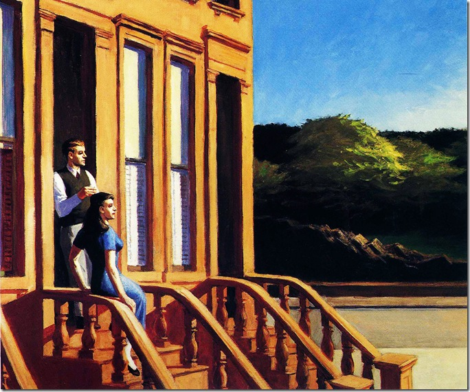Edward_Hopper_Sunlight_on_Brownstones_1956